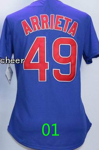 Womens Cubs Jersey #49 Jake Arrieta Jersey #17 Kris Bryant Chicago Cubs Jersey Cheap Throwback Baseball Jerseys/shirt
