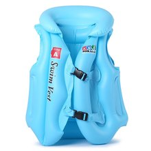 Durable Thickening Inflatable Baby Swimsuit Swim Vest Child Swimming Equipment 3Colors S/M/L(China (Mainland))