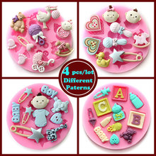 4 pcs/lot Diameter 8.5cm / Height 1.2cm stampi in silicone mold fondant cake decorating mould chocolate mold bakeware in stock(China (Mainland))