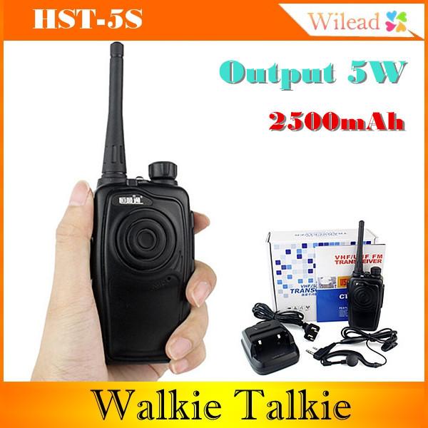 CB HST 5S Walkie Talkie UHF 400/520 16/5w VOX HST-5S 2pcs mini walkie talkie uhf interphone transceiver for kids use two way portable radio handled intercom free shipping