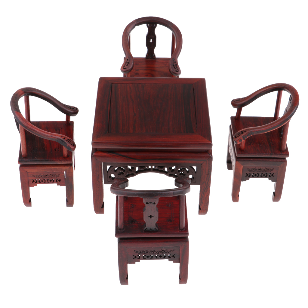 1/6 Scale Wooden Square Table Chair Dining Table Model For   Dolls House Furniture Collections