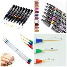 16 Colors Nail Art Pen Polish Painting Dot Drawing UV Gel Design Manicure Tool Hot Free Shipping
