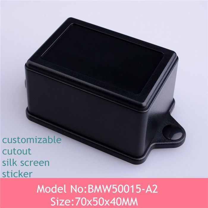 szomk abs material (8pcs)free shipping custom plastic enclosure wall mount plastic case electronic led driver housing 70*50*40mm(China (Mainland))