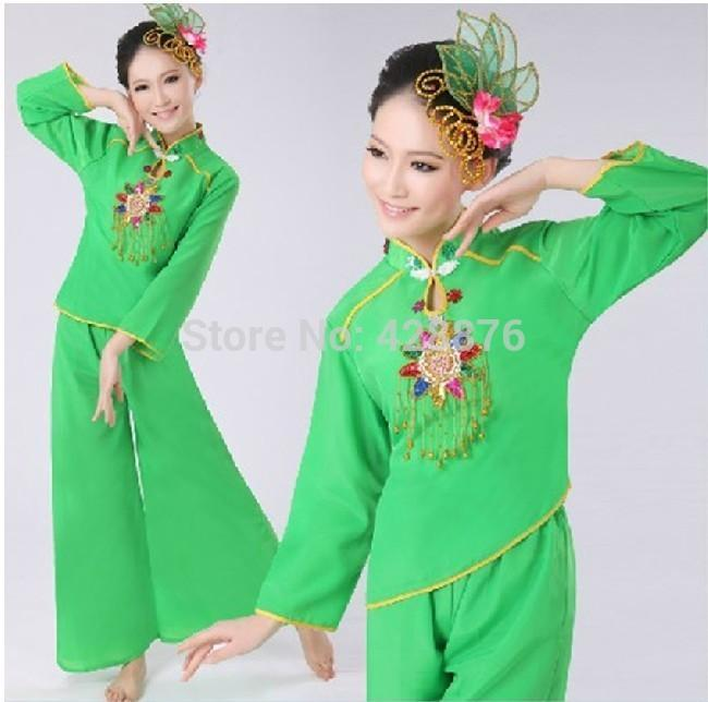 New 2015 Long-sleeve Facings Dance Costume Chinese costume stage Show(China (Mainland))
