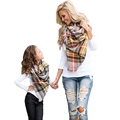 Winter Scarf Tartan Plaid scarf Cashmere Pashmina Designer Blanket Scarf Hickness Hot Handkerchief Soft Luxury Brand