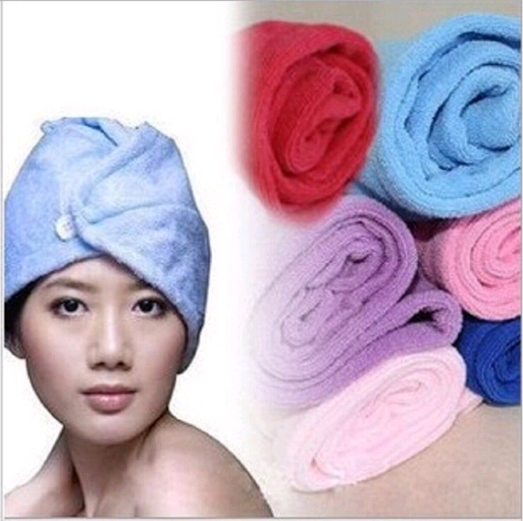 Free shipping Korea Mo Keli magic dry hair cap 7 times dry hair cap shower cap super absorbent towel dry hair(China (Mainland))