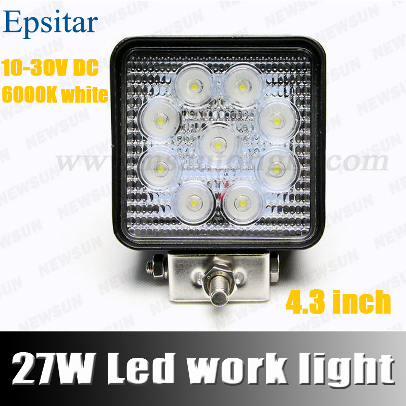 4 INCH 27W LED WORK LAMP OFFROAD 12V IP67 FLOOD FOR 4x4 OFF ROAD ATV TRUCK BOAT UTV WORKLIGHT DRIVING LIGHT - NEWM Autolight Store store