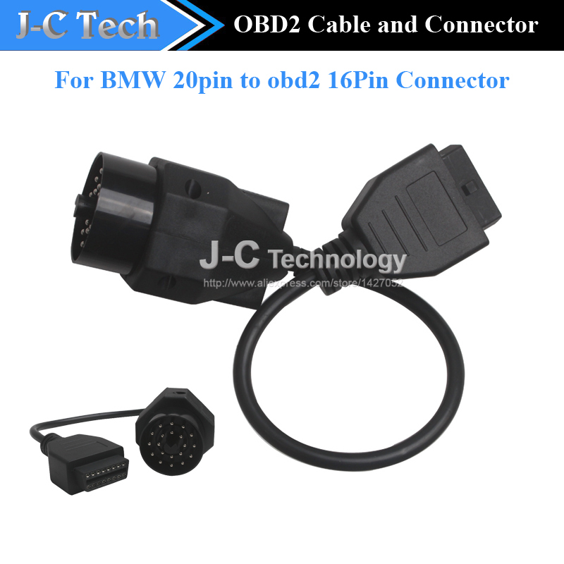 For BMW 20pin to obd2 16 Pin Connector Free Shipping(China (Mainland))