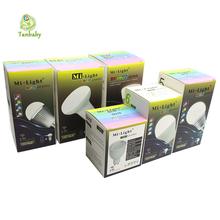 Tanbaby Mi.light LED Bulb Dimmable E27 E14 GU10 Lighting Lamp 4W 5W 6W 8W 9W RGBW RGBWW 2.4G Smart Lampara LED House Light(China (Mainland))