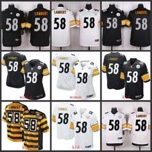 100% Elite men Pittsburgh Steelers WOMEN YOUTH KIDS HOT SALE NEW FAST SHIPPING 58 Jack Lambert(China (Mainland))