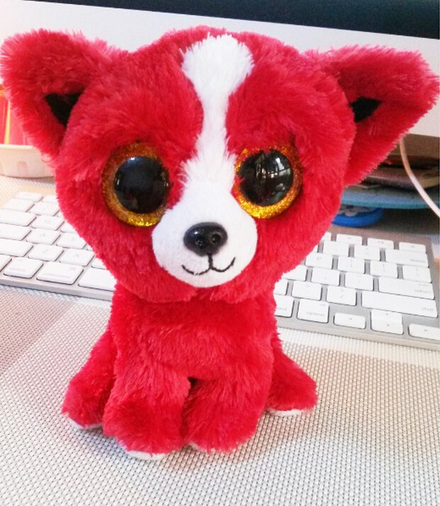 TY TOMATO RED DOG BEANIE BOOS, NEW, MINT TAGS, SHOW EXCLUSIVE(China (Mainland))