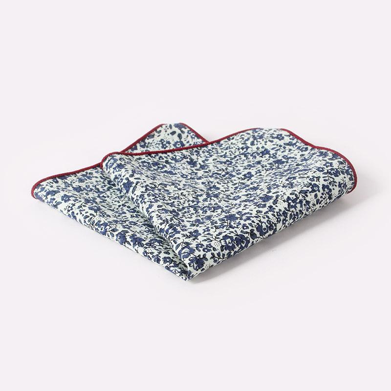 2016 Exquisite 25cm Cotton Wedding Handkerchiefs Retro Paisley & Floral Mens Suit Pocket Square Women Pocket Towel Party Hanky(China (Mainland))