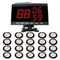 wireless table paging system airport 20 pcs white table bell and 1 pcs black call number