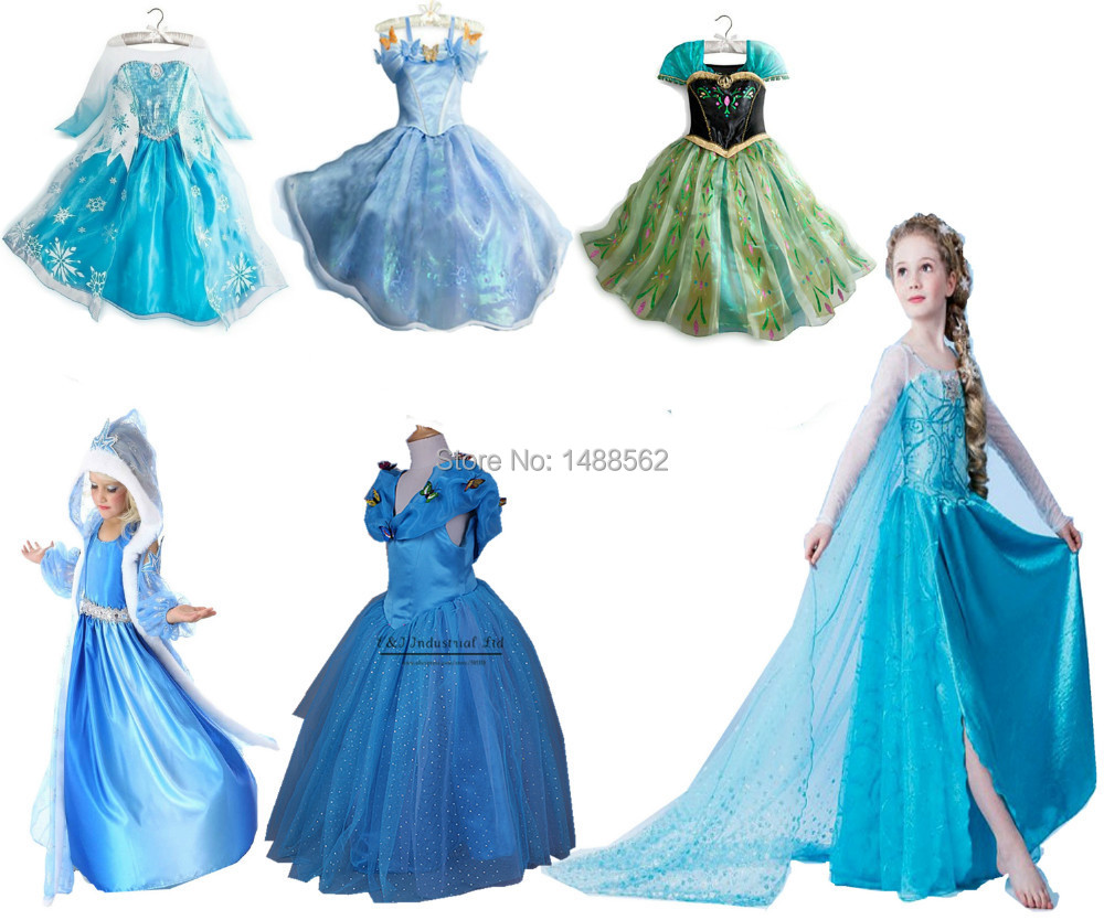 Shipment soon top grade 2015 costume princess dress sequined costume Long Sleeve Diamond Dresses girls dress(China (Mainland))