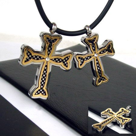 1pcs New Guaranteed 100% 316L Stainless Steel unique Cross Pendant free chain + free shipping