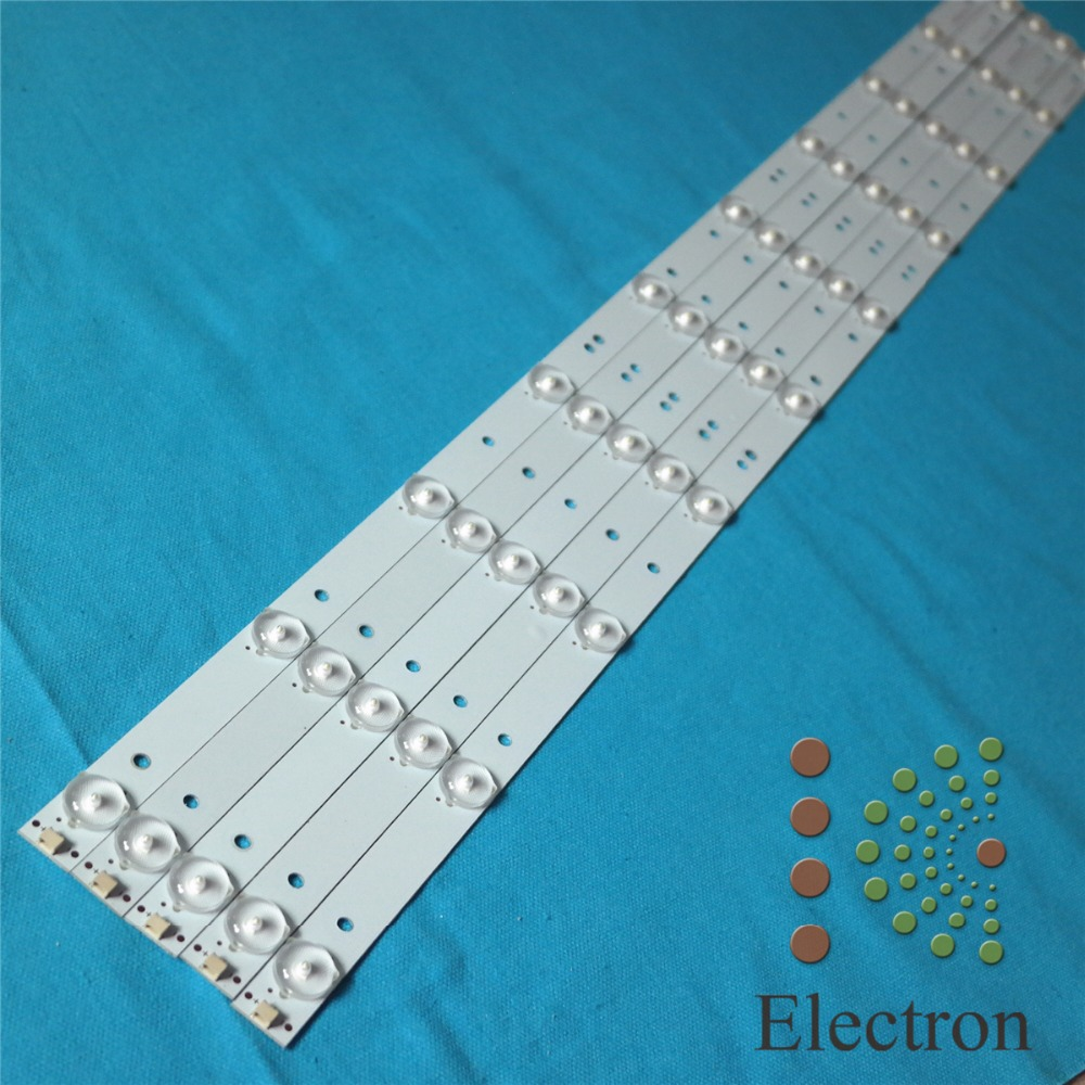 5pcs 39'' 40'' 750mm*18mm 10leds TV Panel Backlight Lamps LED Strips w/ Optical Lens Fliter New(China (Mainland))