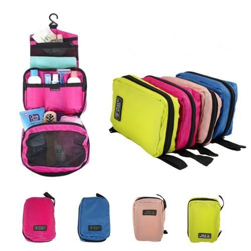 New Portable Waterproof Travel Makeup Organizer Bag High Quality Hanging Bag Multifunctional Travel Zipper Clutch Cosmetic