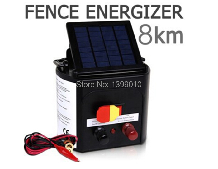 Adjustable Solar Panel 0.3J Sheep Goat Solar Electric Fence Energizer Charger 8KM Solar Electric Fence energizer Charger(China (Mainland))
