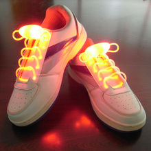 Cool Fashion Light up LED Shoelaces Flash Party Skating Glowing Shoe Laces for Boys Girls 2016 HOT Fashion Luminous Shoe Strings(China (Mainland))