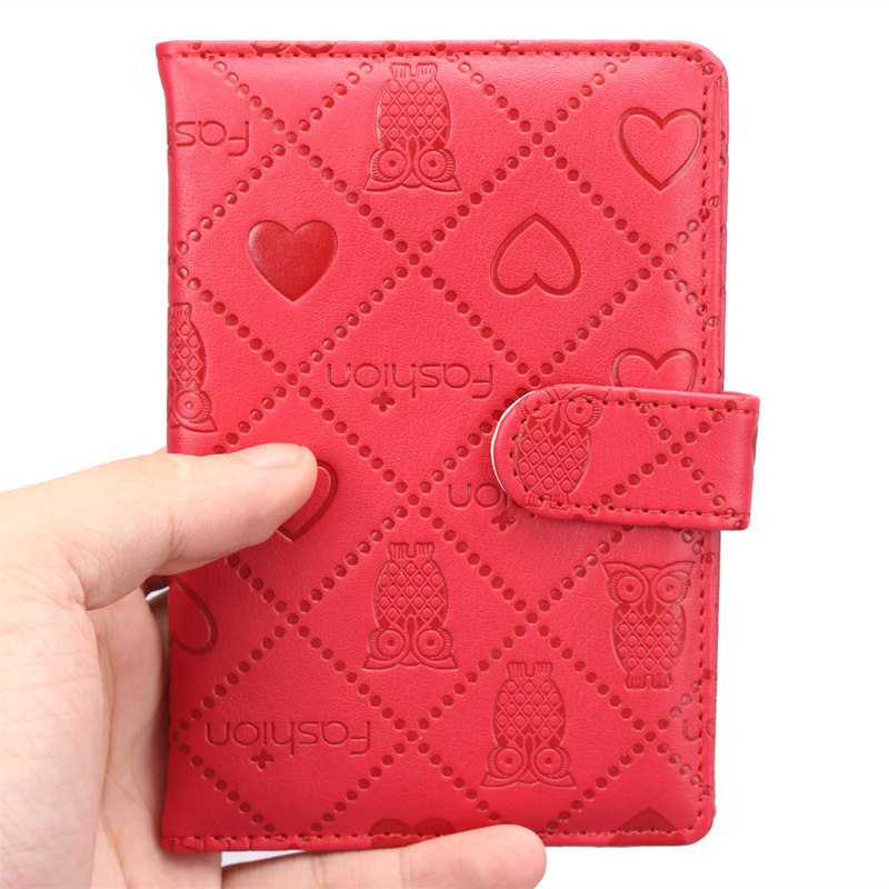 2016 men's owl printing cover on the passport covers traveling organizer for documents, women's card holder for visiting cards(China (Mainland))