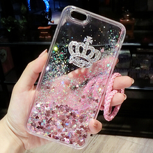 Buy phone Cover Huawei P9 Lite 2017 Case Huawei P8 Lite P9 P9 plus P8 Silicone Case luxury Bling Imperial crown Liquid Glitter for $3.99 in AliExpress store