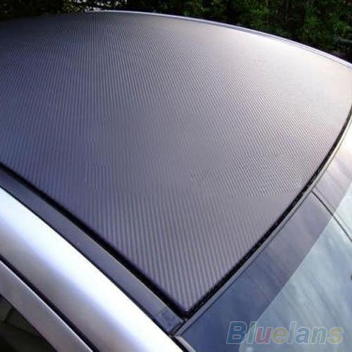 3D Carbon Fiber Black Vinyl Film Sheet Wrap Roll Auto Car DIY Decor Sticker 1SS3(China (Mainland))