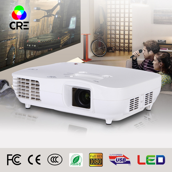 Large 200 inch Picture CRE X2000 Led TV Home Theater World HDMI 1080P 3LCD Multimedia Video Projector