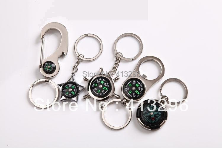 Freeshipping---New Arrial ! Fashion Novelty Car Keychain ,Promotion Gift Wholesale 13 compass(China (Mainland))