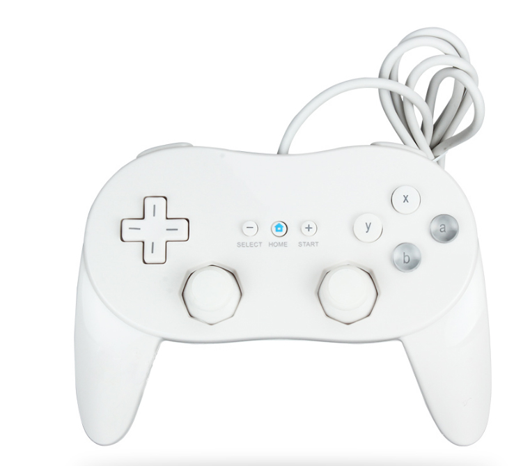 High Quality Black/White Classic Dual Analog Wired Pro Game Controller Gamepad for Nintendo Wii Free Shipping(China (Mainland))