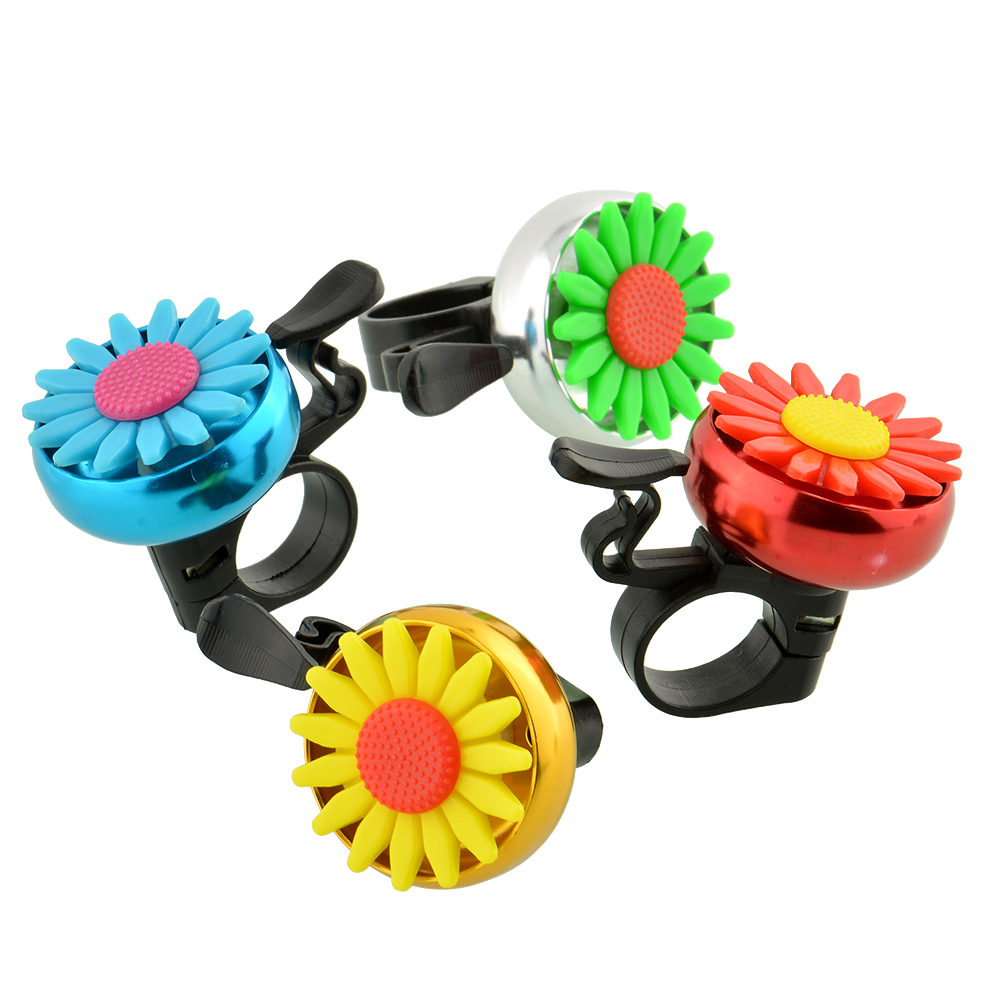 Cuty Flower Beautiful Bike Bicycle Cycling Handlebar Ring Horn Sound Bell Alarm Metal Multicolor Useful Safety Free shipping(China (Mainland))