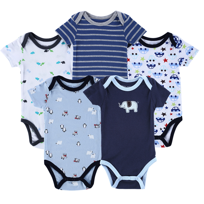 Luvable Friends 5 Pieces lot 2015 Summer Boutique Baby Romper Vestidos Cute Pattern One Pieces Baby