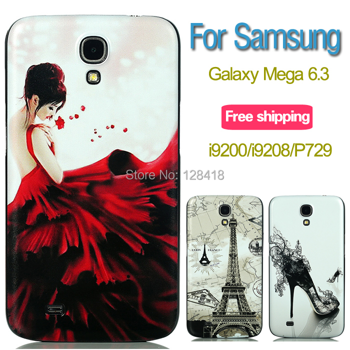 Black edge phone case Samsung Galaxy Mega 6.3 i9200/i9208/P729/I9205 back cover ultra thin plastic hard cases - Mobile phone's lover store