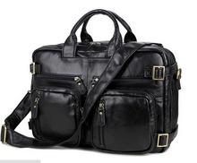 100% Genuine leather men messenger bags business bag laptop men bags men's briefcase tote shoulder laptop men's travel bag 7041A(China (Mainland))