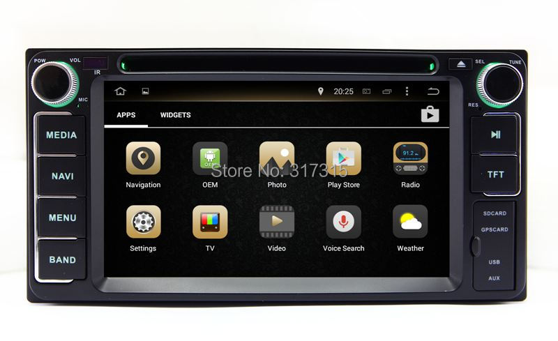 Android 5.1 Car GPS Navigation DVD Player for Toyota Hiace Kluger 4Runner Innova Tundra Vios with BT TV USB SD AUX Stereo WIFI(China (Mainland))