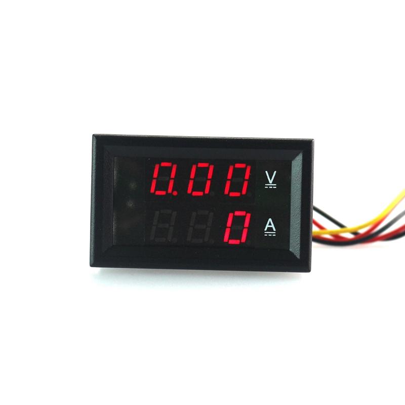 DC 0-100V/500A Volmeter Ampmeter DC Volt Amp Meter For Car Or Machines Red Digital LCD Display <br><br>Aliexpress