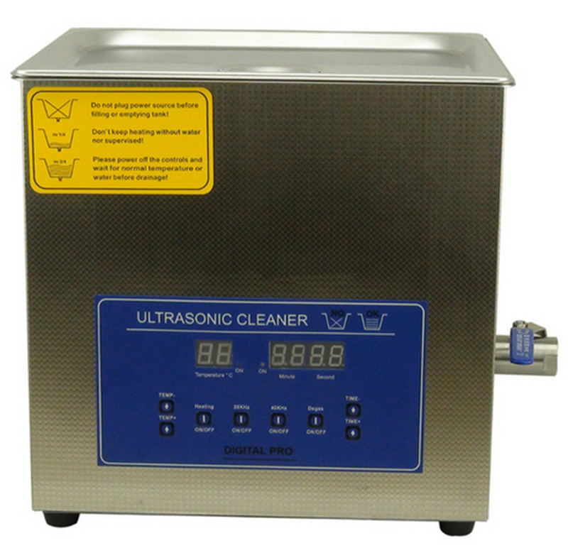 dual double frequency 28khz/40khz digital ultrasonic cleaner cleaning machine 10L(China (Mainland))