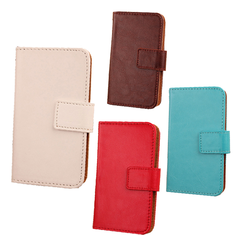 Simple Style Flip Design PU Leather Cover Cell Phone Protector Case For BQ Aquaris M5.5 With Card Slot(China (Mainland))