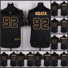 ABCThe 50 anniversary black gold men Elite Detroit Lions 15 Golden Tate 20 Barry Sanders 9 Matthew Stafford 94 ansoh(China (Mainland))