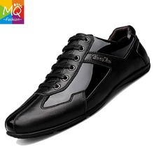 MQ Top Quality 100% Genuine Leather Men Casual Shoes,Big Size Fashion Brand Designer Men Flats Y210