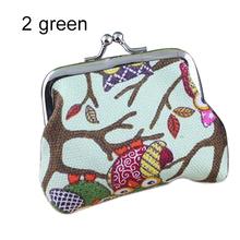 Women s Cute Multi colors Owl Printed Coin Purse Wallet Canvas Pouch Money Bag 4V3T