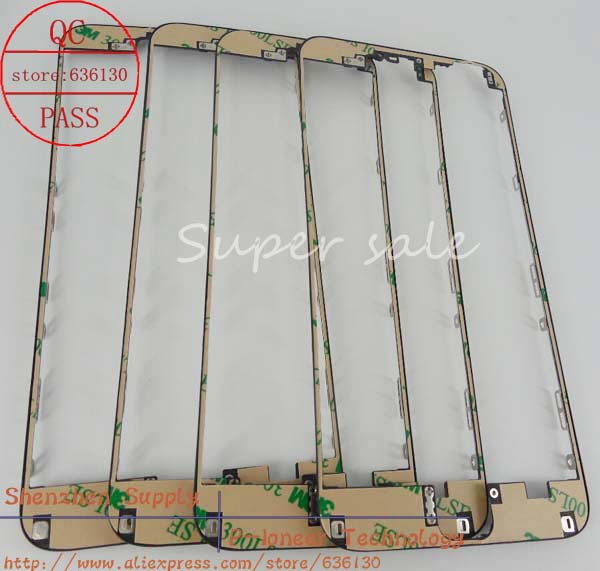 Front Glass Middle Bezel LCD Supporting Frame With 3M Adhensive For iphone 6 plus Free shipping