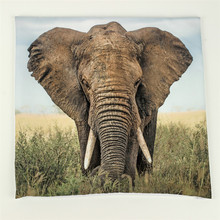 Elephant 3d 1 side Printing Cushion Cover Throw Pillows Cover