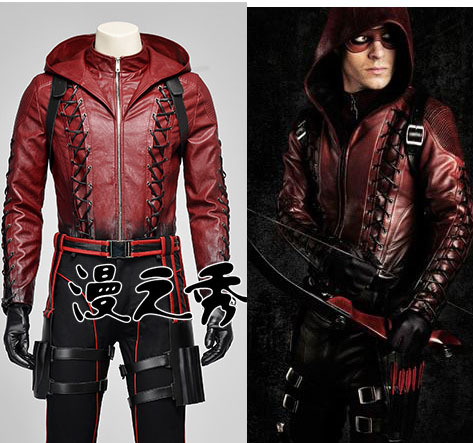 Movie Coser-5 High Quality Super Hero Red Arrow Roy Harper In Arrow Cosplay Costume Set Одежда и ак�е��уары<br><br><br>Aliexpress