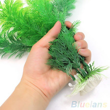 Fish Tank Aquarium Decoration Green Artificial Plastic Underwater Grass Plant