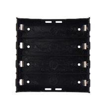 High Quality Battery Box Holder Batteries Case for 4x 18650 in Parallel 3.7V Pole Black