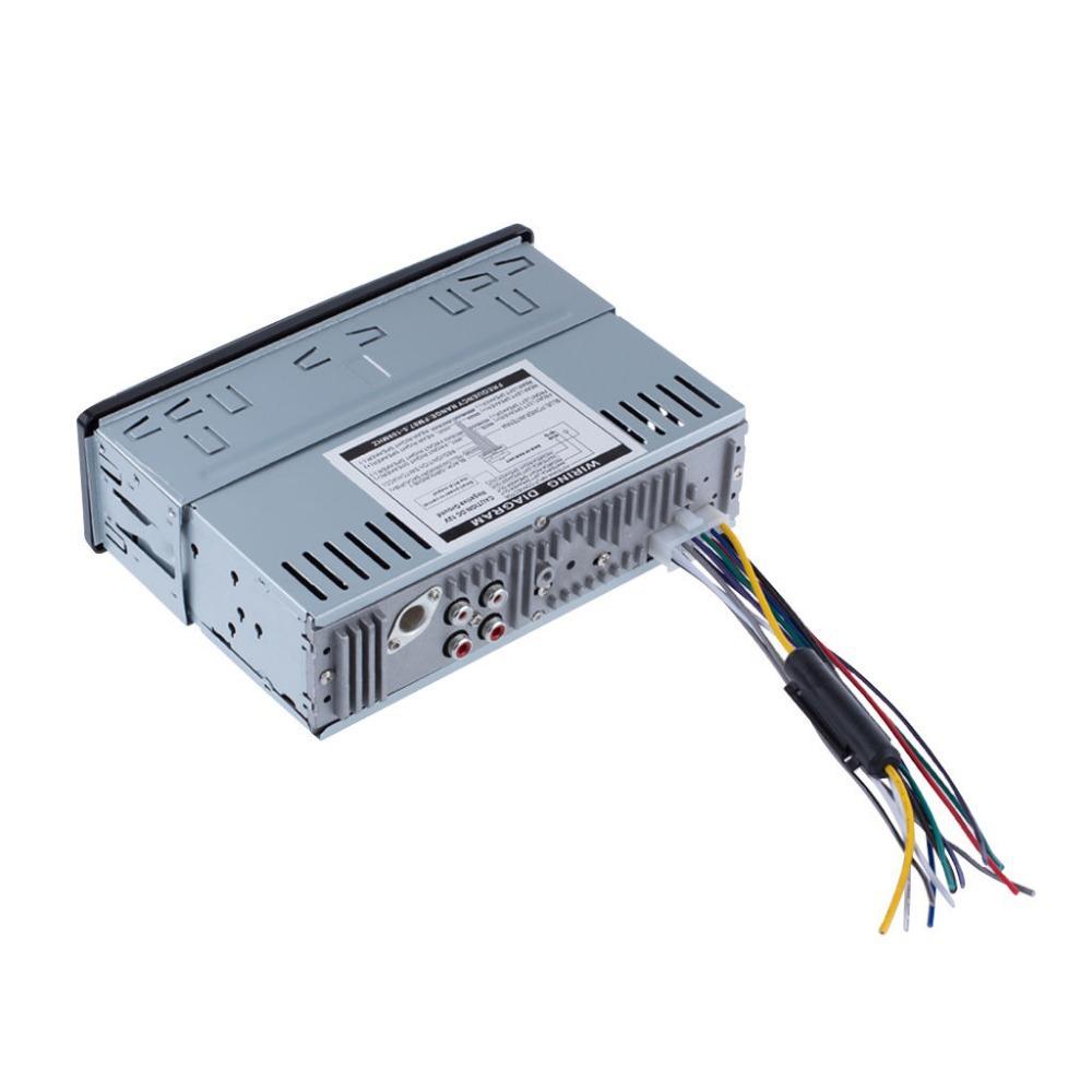 Автомобильный радиоприемник Bluetooth 1 DIN в тире 12 В SD / USB IPOD Aux вход FM стерео аудио головное устройство радио пара автомобилей