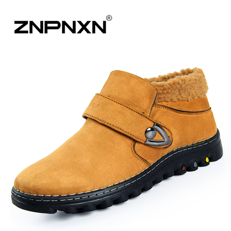 Super Warm Mens Winter Leather Boot Men Outdoor Waterproof Rubber Snow boots Leisure Martin Boots England Retro shoes for mens<br><br>Aliexpress