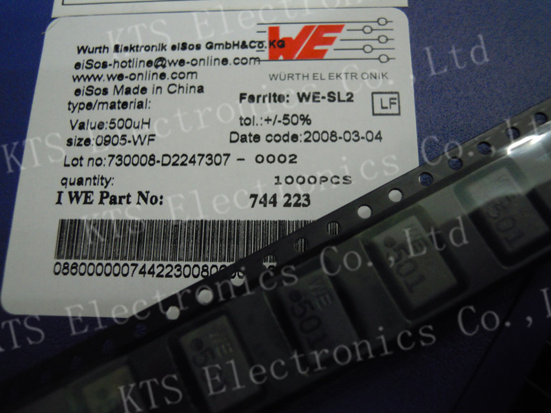 Hot offer 9.2x6.0mm Common Mode Chokes Filters Inductor 500uH 1.0A -- 744223(China (Mainland))