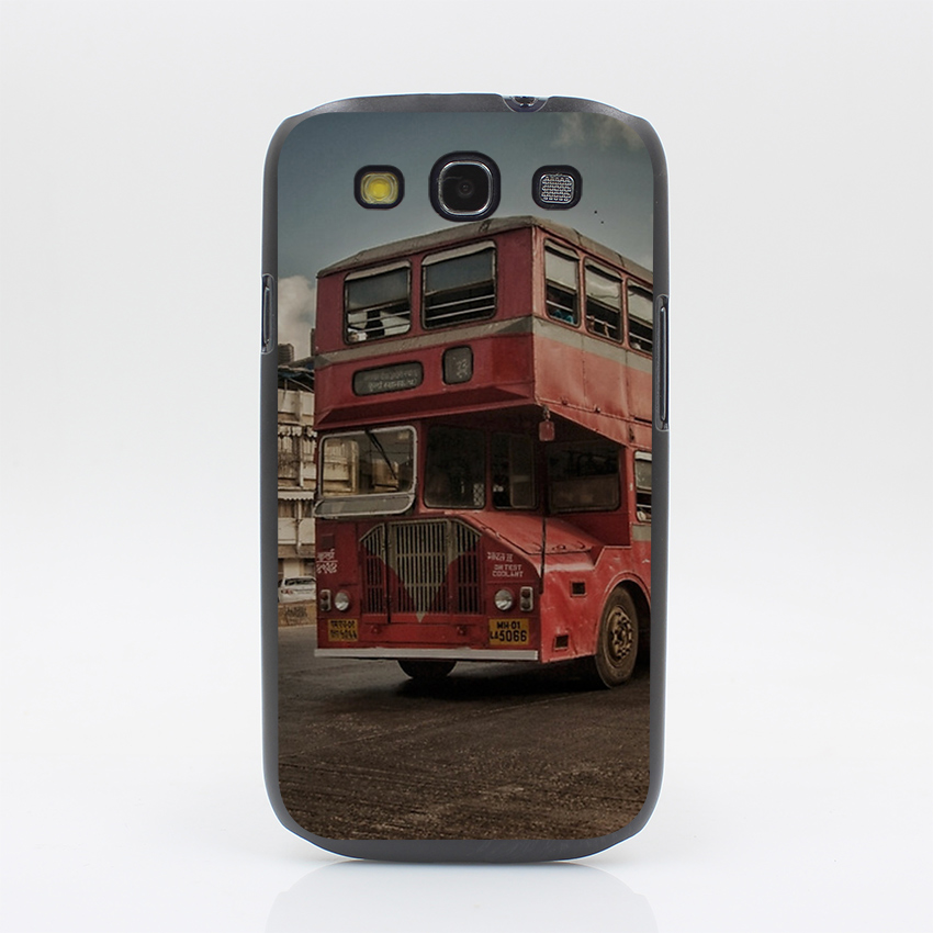 153CD Bombay Bus Hard Black Case Cover for Galaxy S3 S4 S5 & Mini S6 S7 Edge Plus & A3 A5(China (Mainland))