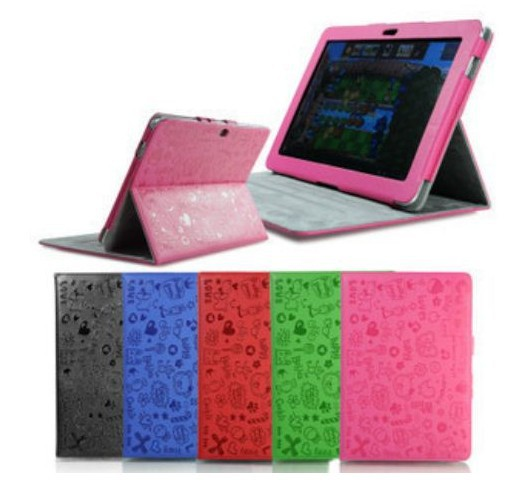 """1 Piece Free Shipping Magic Girl Leather Case Cover Stand for Samsung GALAXY Tab 2 P5100 10.1"""" Tablet(China (Mainland))"""